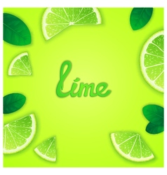 Fruity lime background vector