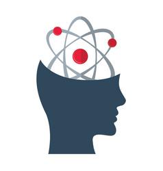 Head think atom molecule concept vector