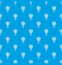 Hot air balloon pattern seamless blue vector