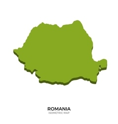 Isometric map of romania detailed vector
