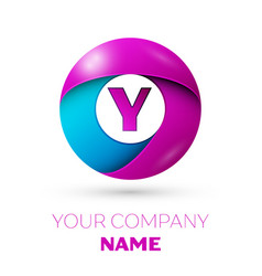 Letter y symbol in the colorful circle vector