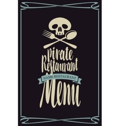 Menus for pirate restaurants vector