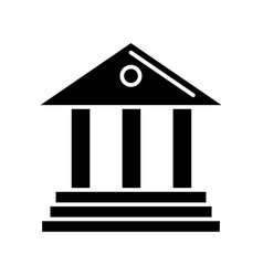 museum - bank icon black vector image vector image