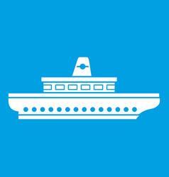 passenger ship icon white vector image