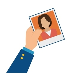 Photo of person for document vector image vector image