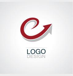 swirl arrow logo vector image