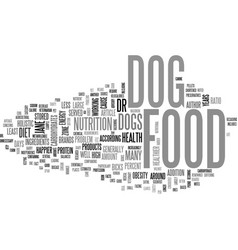What s in your dog food text word cloud concept vector
