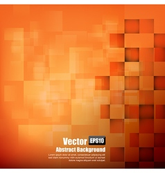 Abstract background orange with basic geometry vector image