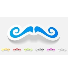 Realistic design element mustache vector