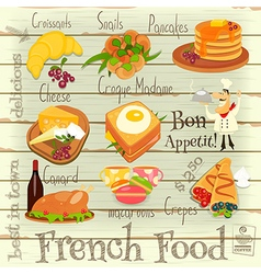 French Food Menu vector image