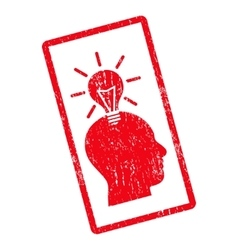 Genius bulb icon rubber stamp vector