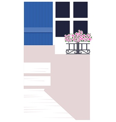 Flowerpot on window sill vector