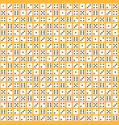 Flat dice pattern seamless background vector