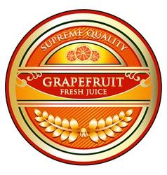 Grapefruit Juice Label vector image