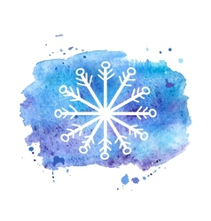 Watercolor background winter vector