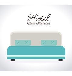 Hotel design over white background vector