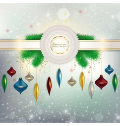 The ribbon with a bow on the background vector