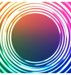 Light circles abstract background astral vector