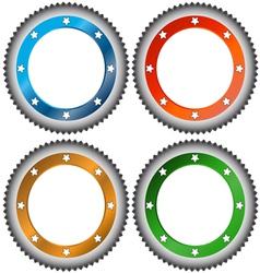 Four multi-colored stickers vector