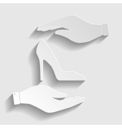 Woman shoe sign vector