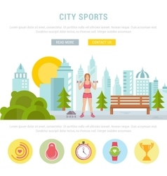 Web banner fitness or bodybuilding vector