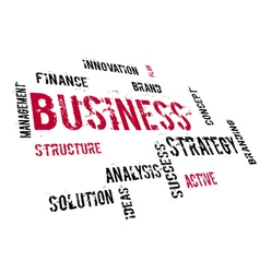 BUSINESS strategy vector image
