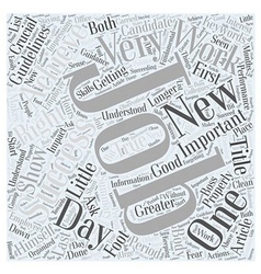 Achieving Success in New Jobs Word Cloud Concept vector image
