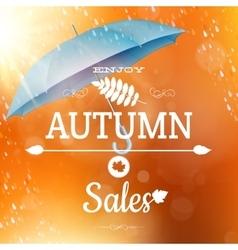 Autumn sale backdrop EPS 10 vector image