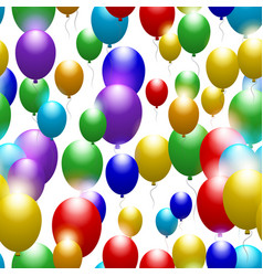 Balloons of all colors of the rainbow seamless vector