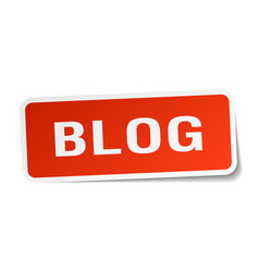 Blog square sticker on white vector