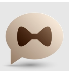 Bow Tie icon Brown gradient icon on bubble with vector image vector image