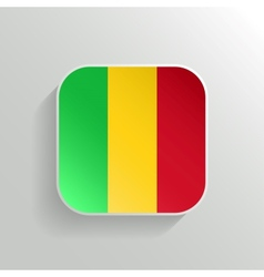Button - Mali Flag Icon vector image