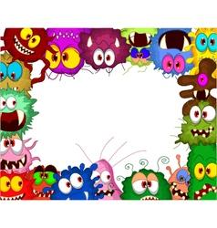 Cartoon bacteria for you design vector