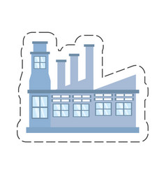 cartoon building factory structure vector image
