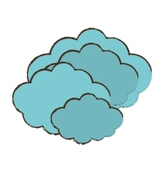 Cloud climate weather color sketch vector