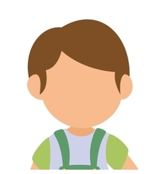 cute boy avatar character vector image