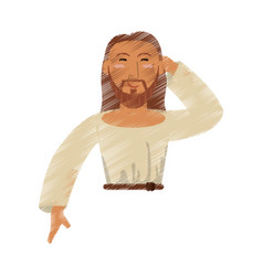 Drawing jesus christ design vector