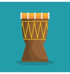 Drum traditional music brazilian vector