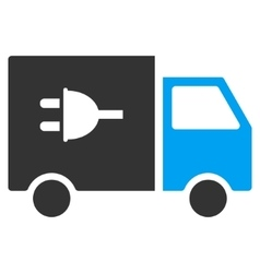 Electric Truck Flat Icon vector image vector image