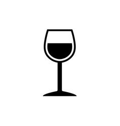 elegant wineglass symbol vector image vector image