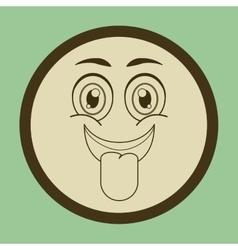 Expressive faces design vector