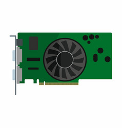 Flat hardware video card icon for repair service vector