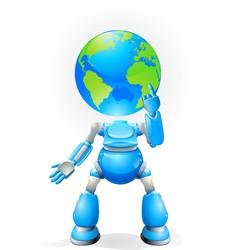 Globe head robot concept vector