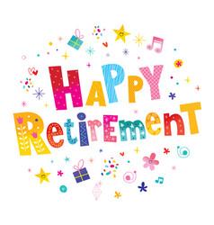Happy retirement vector