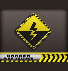 high voltage danger sign vector image vector image