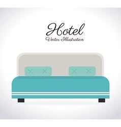 Hotel design over white background vector