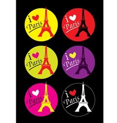 I love Paris sticker vector image vector image