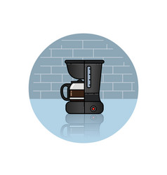 icon of coffee machine vector image
