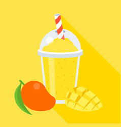 mango smoothie vector image vector image