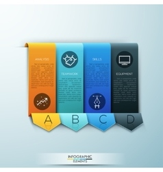 Modern arrow business template vector image